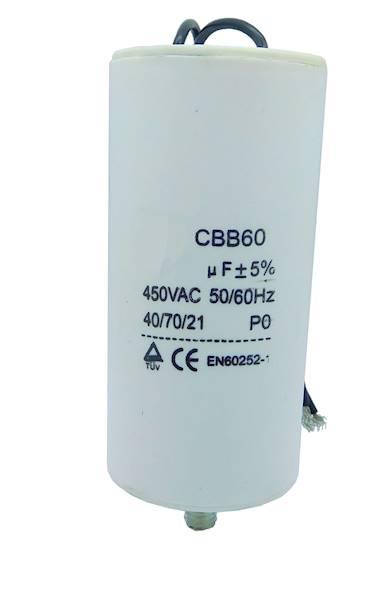 Kondensator  silnikowy 80uF/450VAC