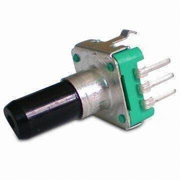 Enkoder 24 impulsy  l=14mm z przyciskiem