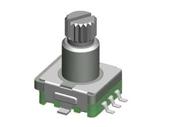 Enkoder 20 impulsów l=12mm z przyciskiem SMD