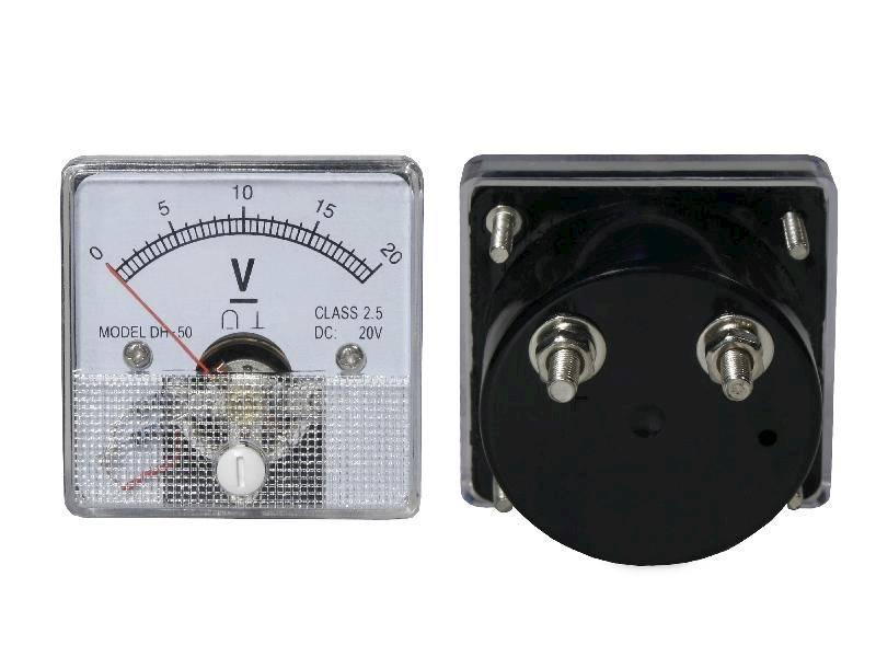 Miernik analogowy panelowy woltomierz 20V