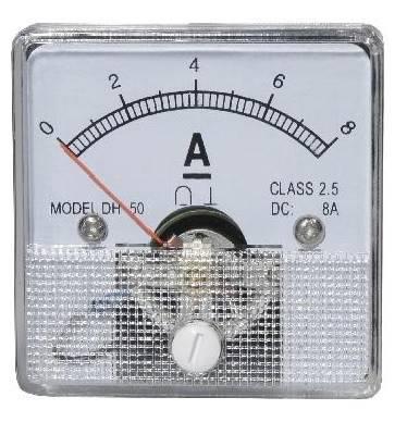 Miernik analogowy panelowy amperomierz 8A