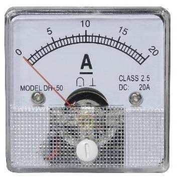 Miernik analogowy panelowy amperomierz 20A