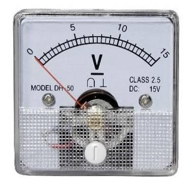 Miernik analogowy panelowy woltomierz 15V