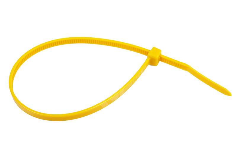 Opaska kablowa 3,6x200mm żółta