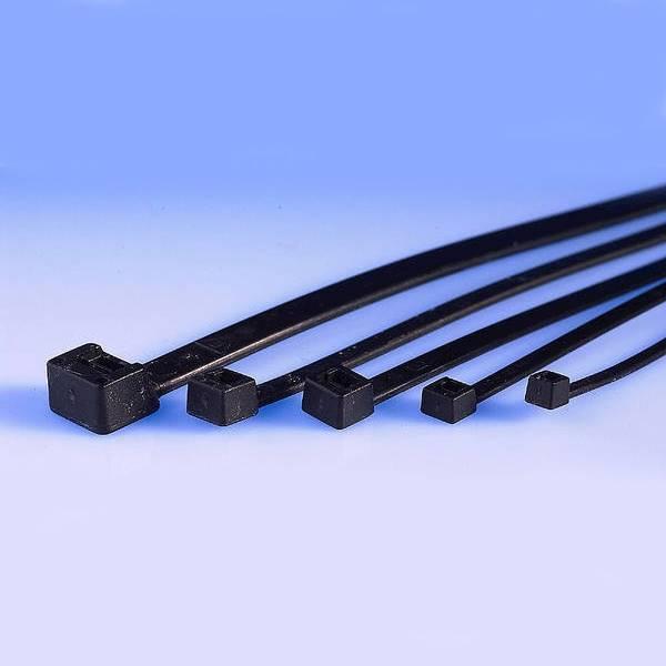 Opaska kablowa 2,5x160mm czarna