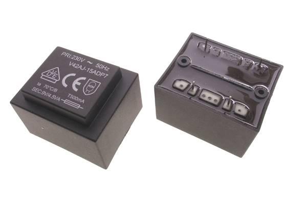Transformator zalewany 4.5VA 230V 9V 500mA