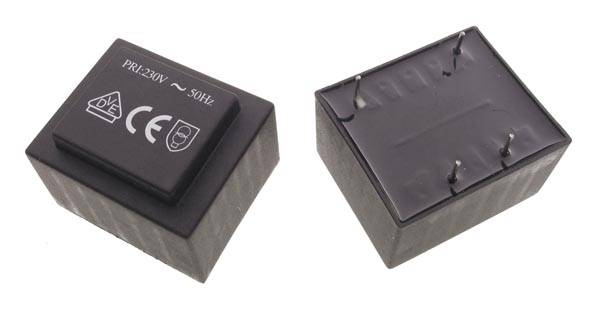 Transformator zalewany 1.5VA 230V  6V 250mA