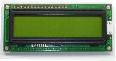 Wyświetlacz LCD 2x16 80x36 zielone podświetlenie