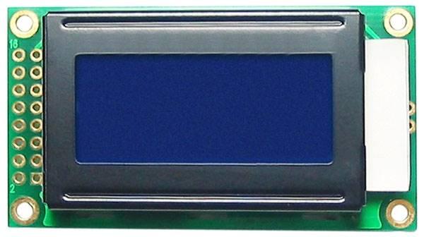 Wyświetlacz LCD 2 x 8 niebieskie podświtlenie
