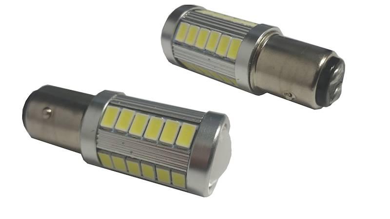 """Żarówka LED 12V 4W """"dwuwłuknowa"""" biała"""