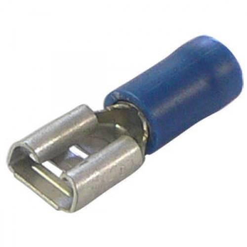 Konektor izolowany żeński niebieski 6.3mm