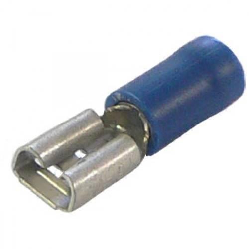 Konektor izolowany żeński niebieskki 4.8mm