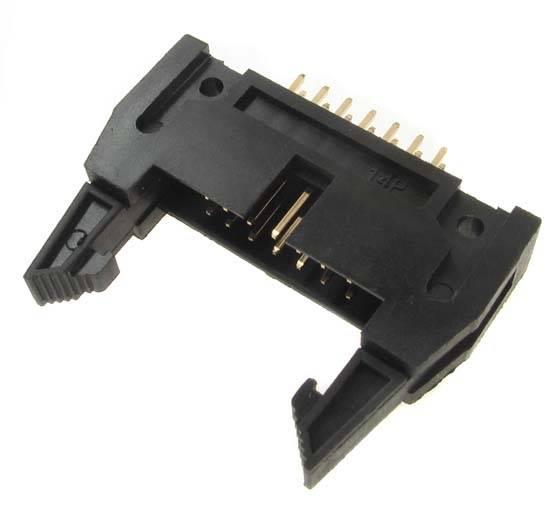 IDC wtyk 16 PIN męski druku z zatrzaskami