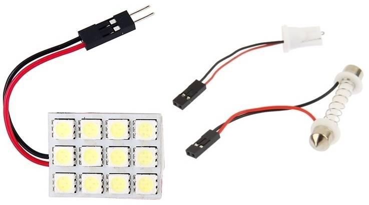 Modół 12 LED 5050 12V 23x30mm biały zimny