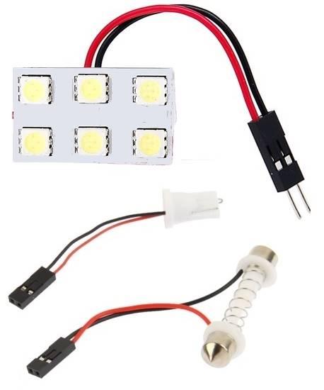 Moduł 6 LED 5050 12V 20x33mm biały zimny