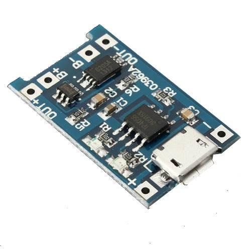 Moduł ładowania  akumulatora 18650 micro USB