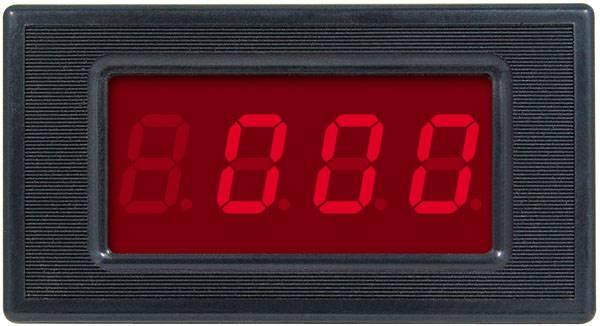 Panelowy amperomierz LED zakres 5A Czerwony