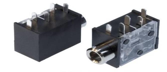 Gniazdo mini jack 3,5mm do druku z wyłącznikiem