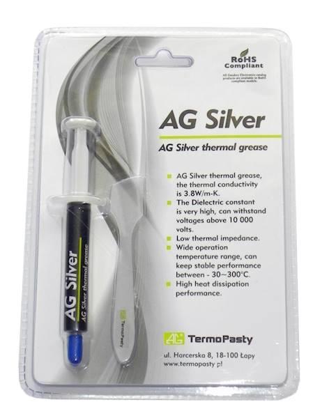 Pasta termoprzewodząca na bazie srebra 3g AG silve