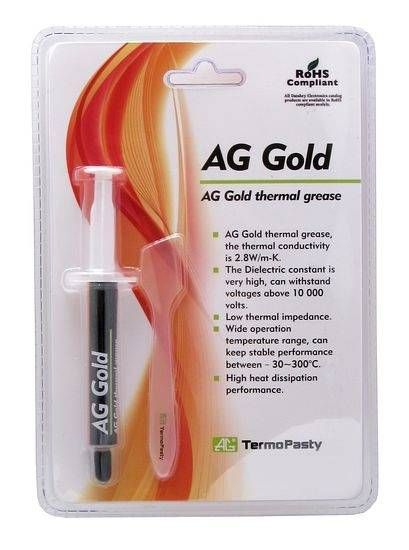 Pasta termoprzewodząca na bazie złota 3g AG