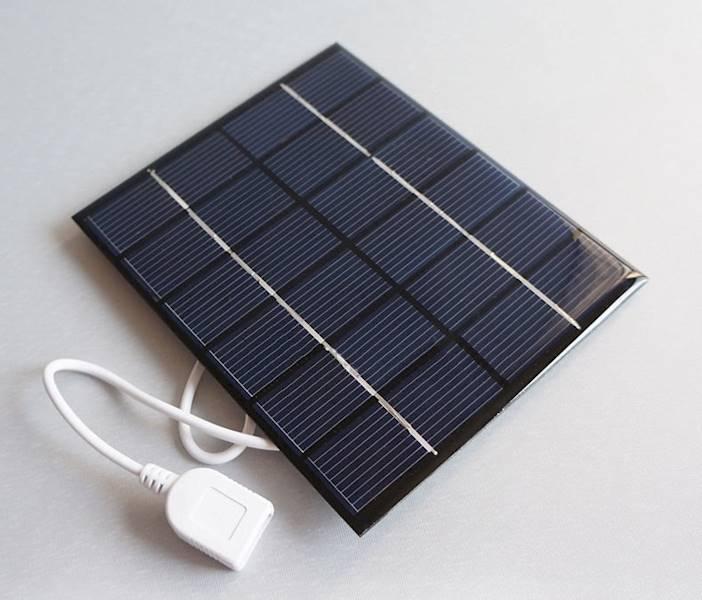 Ogniwo słoneczne  0,6W 5,5V USB OS8 65x65x3mm