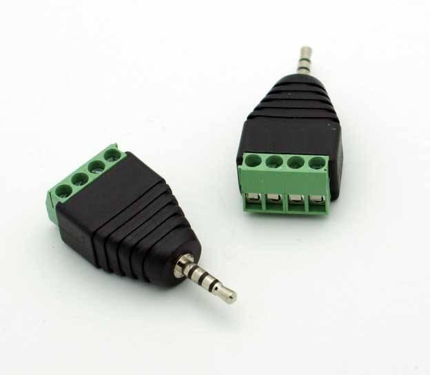 Wtyk micro jack 2.5mm 4-pin z szybkozłączem