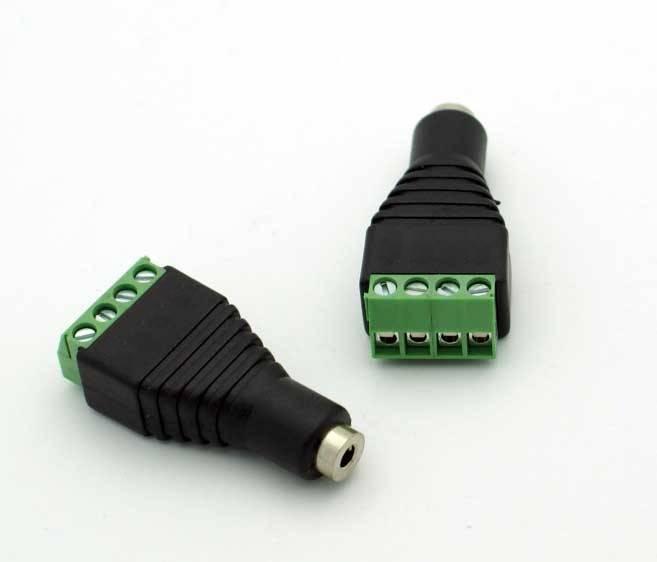 Gniazdo microjack 2.5mm 4-pin z szybkozłączem