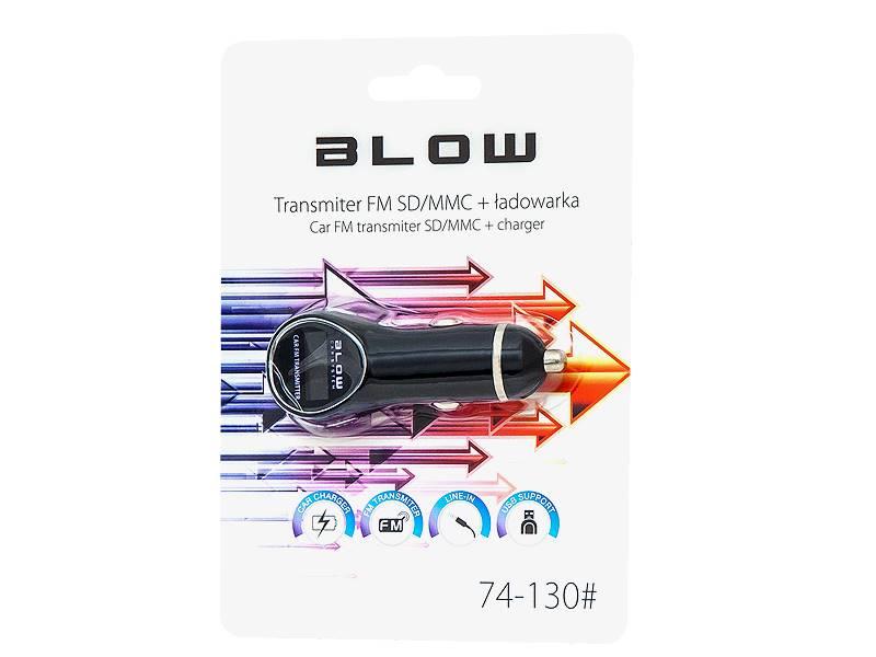 Transmiter FM BLOW USB + ładowarka 1A