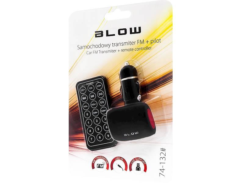 Transmiter FM BLOW USB SD/MMC czerwony