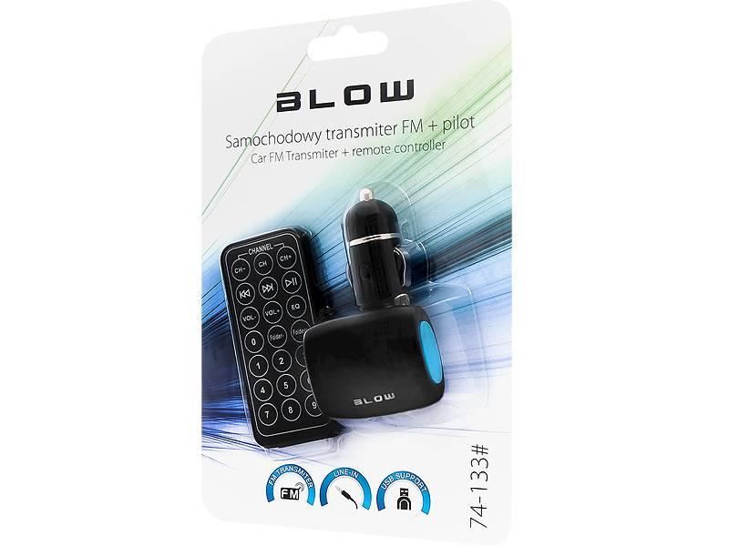 Transmiter FM BLOW USB SD/MMC niebieski