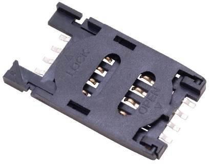 Gniazdo do karty SIM 8 PIN otwierane