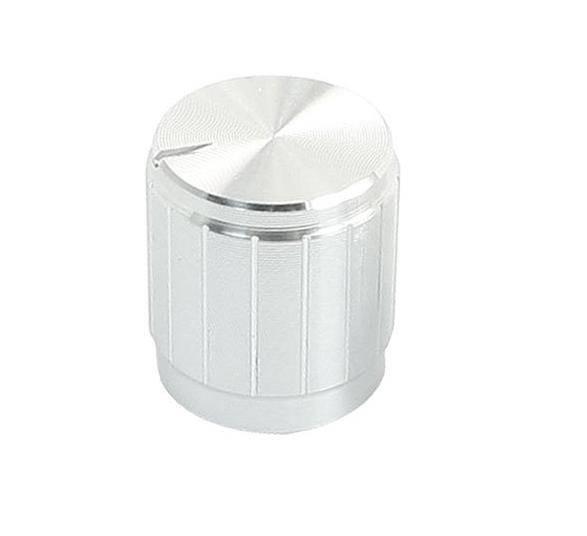 Gałka potencjometru srebrna 15mm GSL15