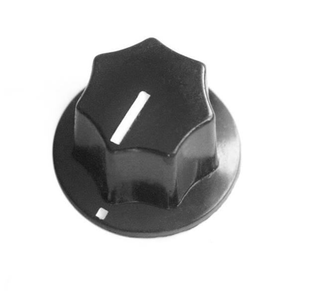Gałka bakielitowa czarna GBS22 22mm
