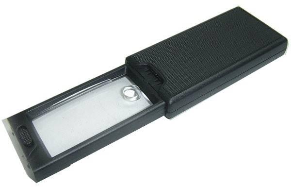 Lupa wysuwana 2.5x i 45x z podświetlaniem W + UV