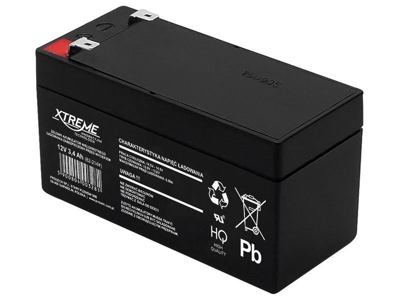 Akumulator żelowy bezobsługowy 12V 3.4Ah XTREME