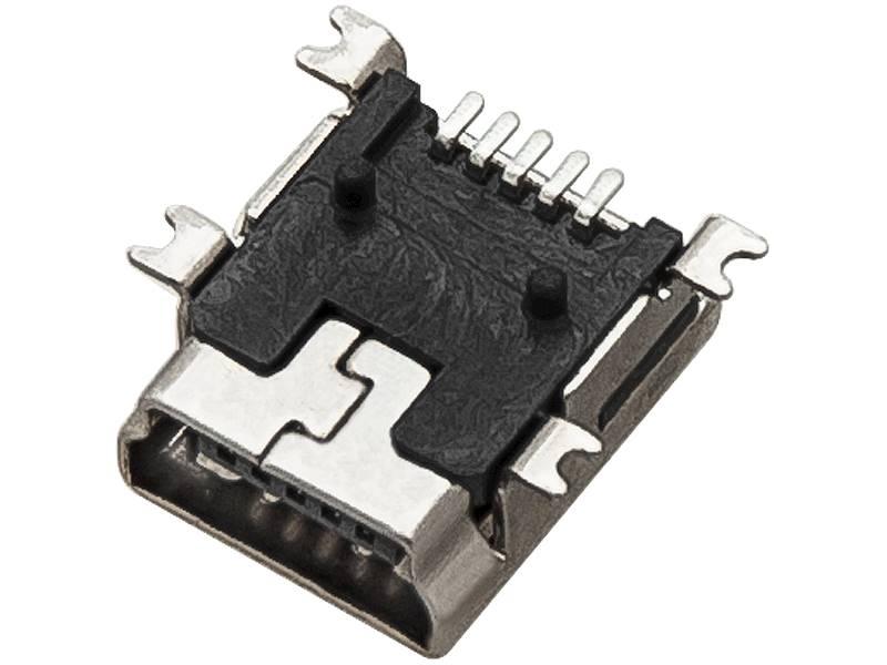 Gniazdo USB mini typ B SMD do druku