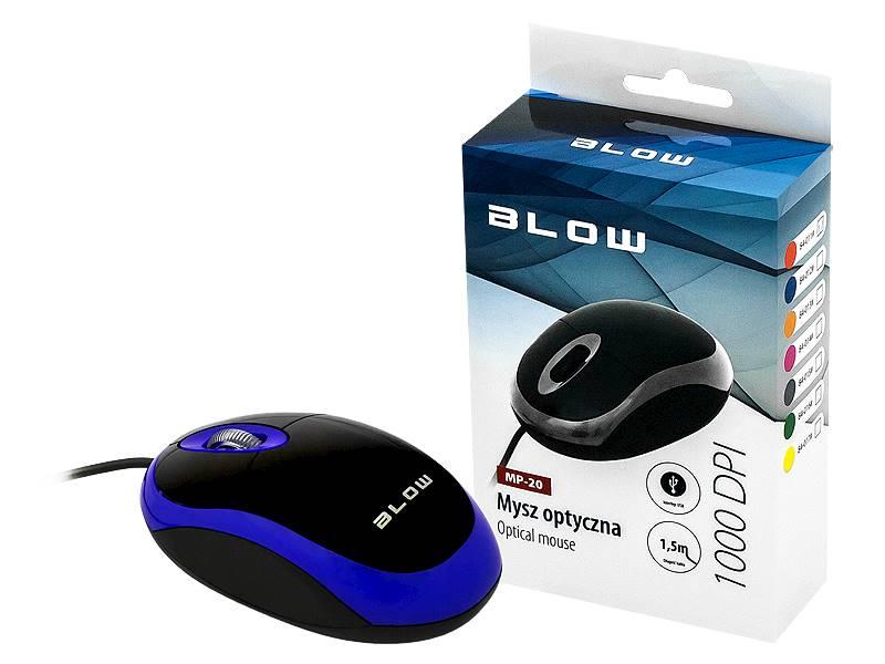 Mysz optyczna BLOW MP-20 USB niebieska