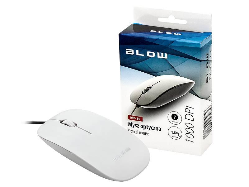 Mysz optyczna BLOW MP-30 USB biała