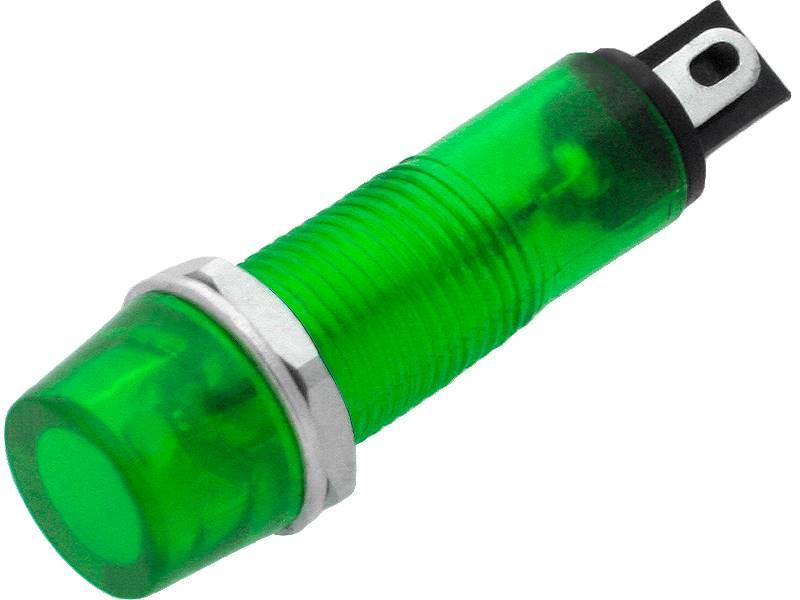 Kontrolka Neonowa 9mm 230V zielona