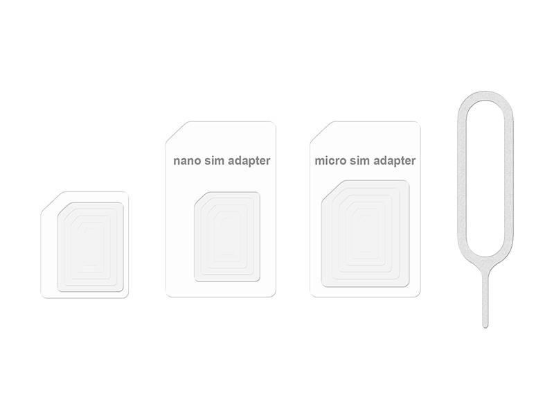 Adapter do kart micro i nano SIM biały