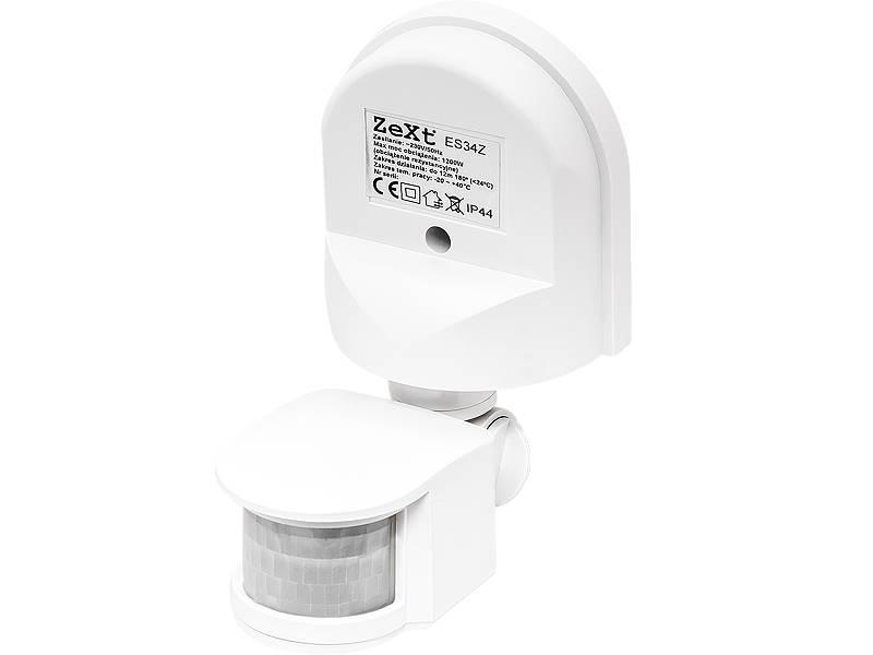 Czujnik ruchu PIR 1200W 180 biały