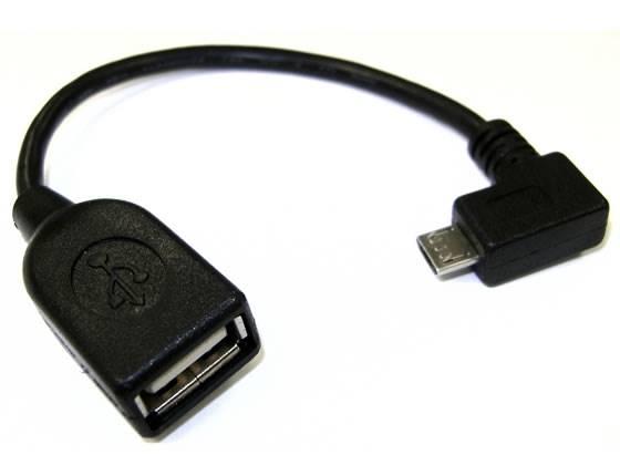 Adapter wtyk micro USB kontowy - gniazdo USB A