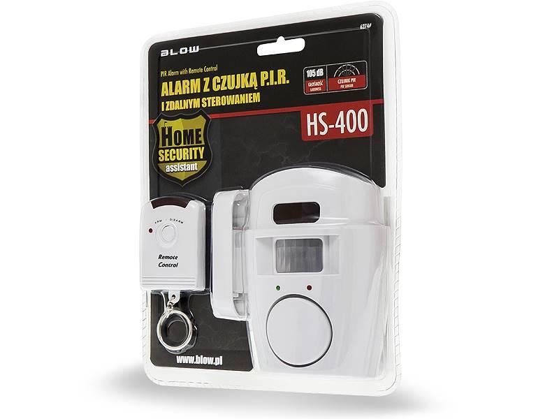 Alarm z czujką PIR i zdalnym sterowaniem
