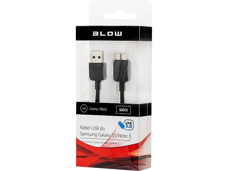 Kabel USB 3. 0 A wtyk - micro B wtyk 1,0m czarne