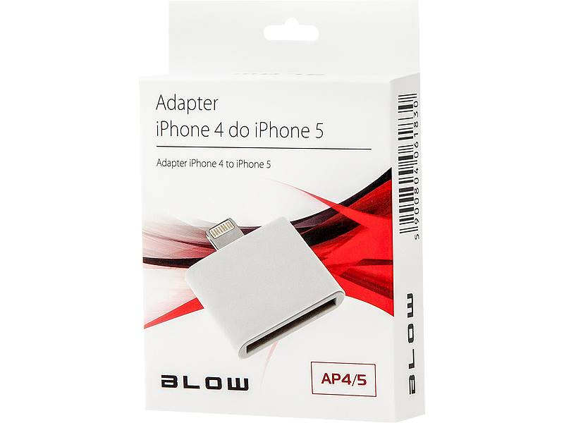 Adapter iPhone 4 gniazdo - iPhone5 wtyk