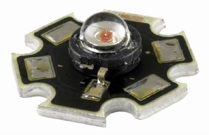 LED 1W STAR  biała ciepła radiator