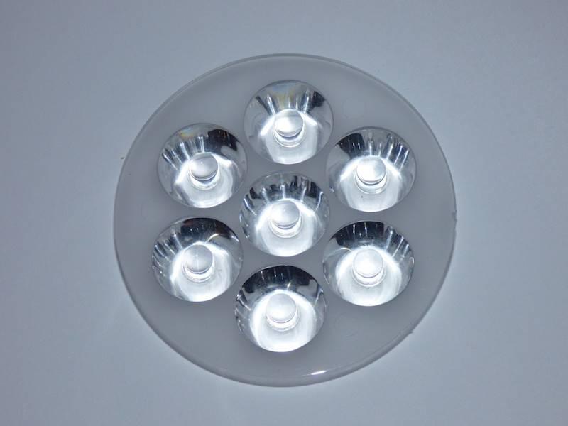 Soczewka na 7 LED mocy kąt 60°