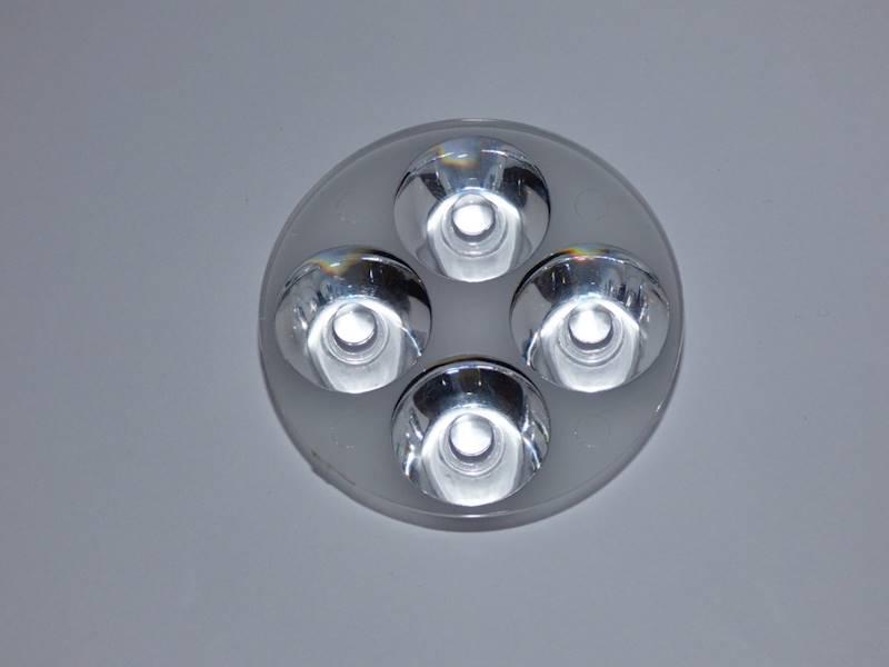 Soczewka na 4 LED mocy kąt 60°