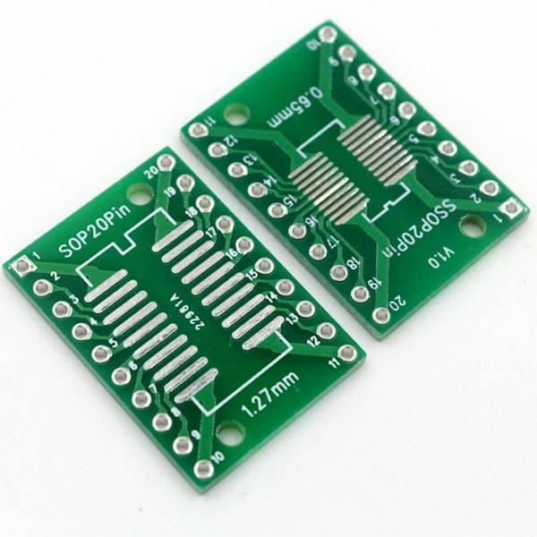 Adapter SOP20/SSOP20/TSSOP20 na DIP
