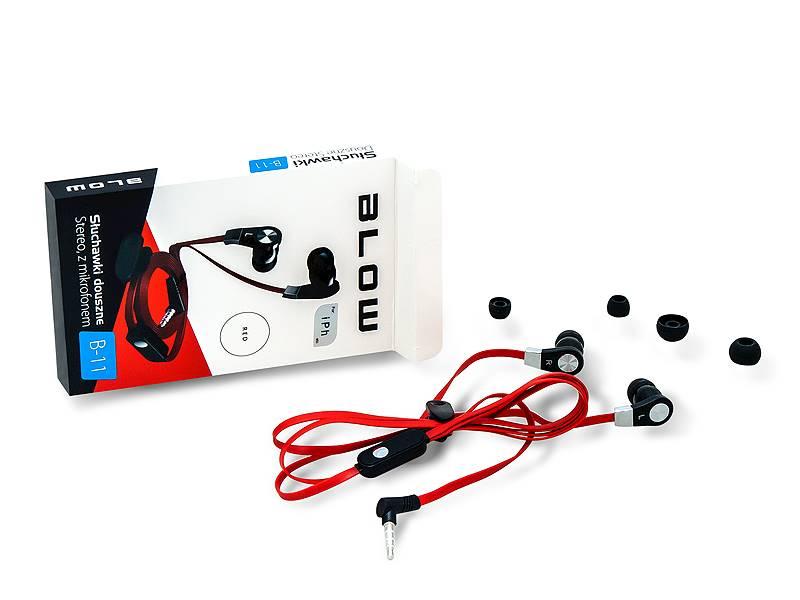 Słuchawki BLOW B-11 RED douszne
